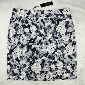 Talbots | NWT gray floral pencil skirt